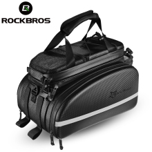 ROCKBROS Bicycle Carrier Bag MTB Bike Rack Trunk Pannier Cycling Multifunctional Large Capacity Cycle Travel With Rain Cover