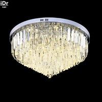 Kreis wohnzimmer lampe kristall lampe schlafzimmer lampe warme remote atmosphärischen stilvolles restaurant Deckenleuchten Rmy 0109-in Deckenleuchten aus Licht & Beleuchtung bei