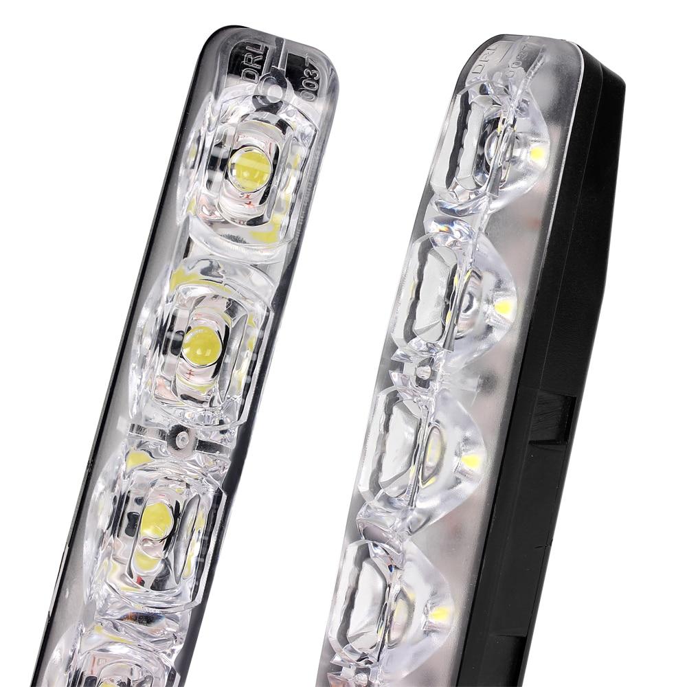 2 pcs Car Styling DRL 6 LEDs Carro Luzes Diurnas Carro diurna luz LED - Faróis do carro - Foto 2