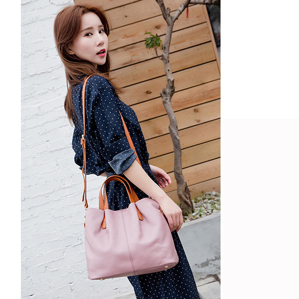 Zency Hot Sale Handtas 100% echt leder Lady Casual Tote Dames - Handtassen - Foto 4