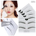 10 Pairs Professional Eyes Makeup Tool Kit S/M/L Size Disposable Natural High Brow Eye Template Eyebrow Stencils Kit