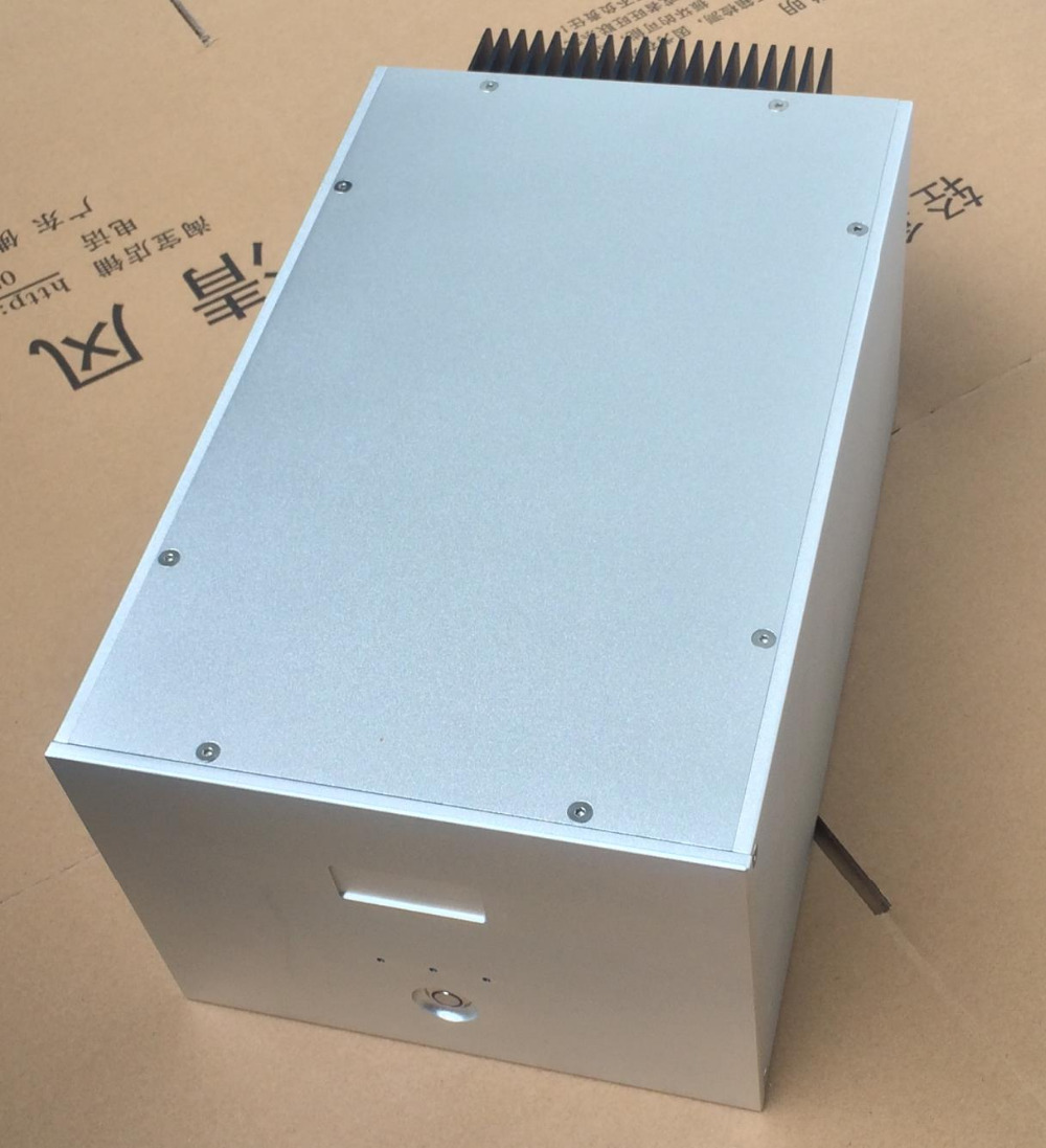 New arrive Aluminum chassis amplifier enclosure Mono amplifier case Cabinet 3206 amplifier aluminum rounded chassis preamplifier dac amp case decoder tube amp enclosure box 320 76 250mm