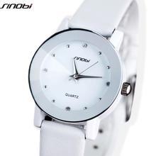 Original sinobi del reloj del amante de sharp faux la correa de cuero del cuarzo de japón reloj de pulsera de regalo de navidad para las mujeres