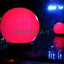 1,2 м Диаметр надувной цветной светодиодный шар фонарь Сфера Свадьба/сценическое украшение
