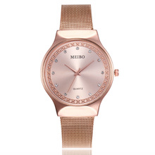 цены 2019 New Brand Crystal Gold Casual Quartz Watch Women Metal Mesh Stainless Steel Watches Relogio Feminino Ladies Wrist Watch Hot