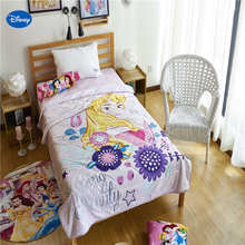 Розовые цветочные одеяла Принцессы Диснея, летние одеяла, постельные принадлежности, Хлопковый чехол, детский Декор для спальни, 150*200 см, 200*230 см
