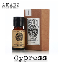 AKARZ Famous brand pure natural Cypress oil Keep skin moisture Relieve muscle spasm appease Cypress essential oil