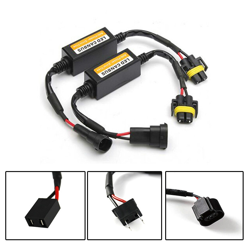 Car <font><b>LED</b></font> Headlight Decoder Radio Audio Anti-interference Fault Canceler Filter H1H4 H7 9006/HB4 9004 H8/H9/H11 <font><b>5202</b></font>/<font><b>H16</b></font> H13 image