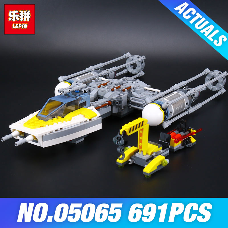 Lepin 05065 Star 691Pcs Wars Genuine Series The Y Star wing fighter Set Building Blocks Bricks Educational Toys DIY Gift 75172