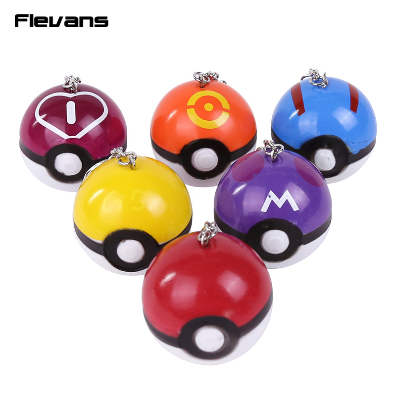 Monster <font><b>Go</b></font> <font><b>Poke</b></font> Ball / Master / Great / <font><b>Love</b></font> / Ball <font><b>PVC</b></font> Figures with keychain Pendants Kids <font><b>Toys</b></font> Gifts 6pcs/<font><b>lot</b></font> 4.5cm