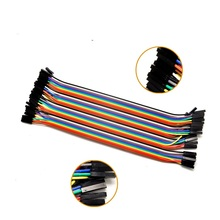 Free Shipping 40pcs in Row Dupont Cable 20cm 2.54mm 1pin 1p-1p Female to Female jumper wire for Arduino