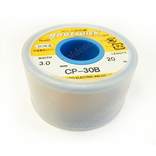1PCS/LOT Free Shipping Brand New TAIYO Goot Wick CP 30B Desoldering Remover Japan Original New 3.0mm 20m CP 30B