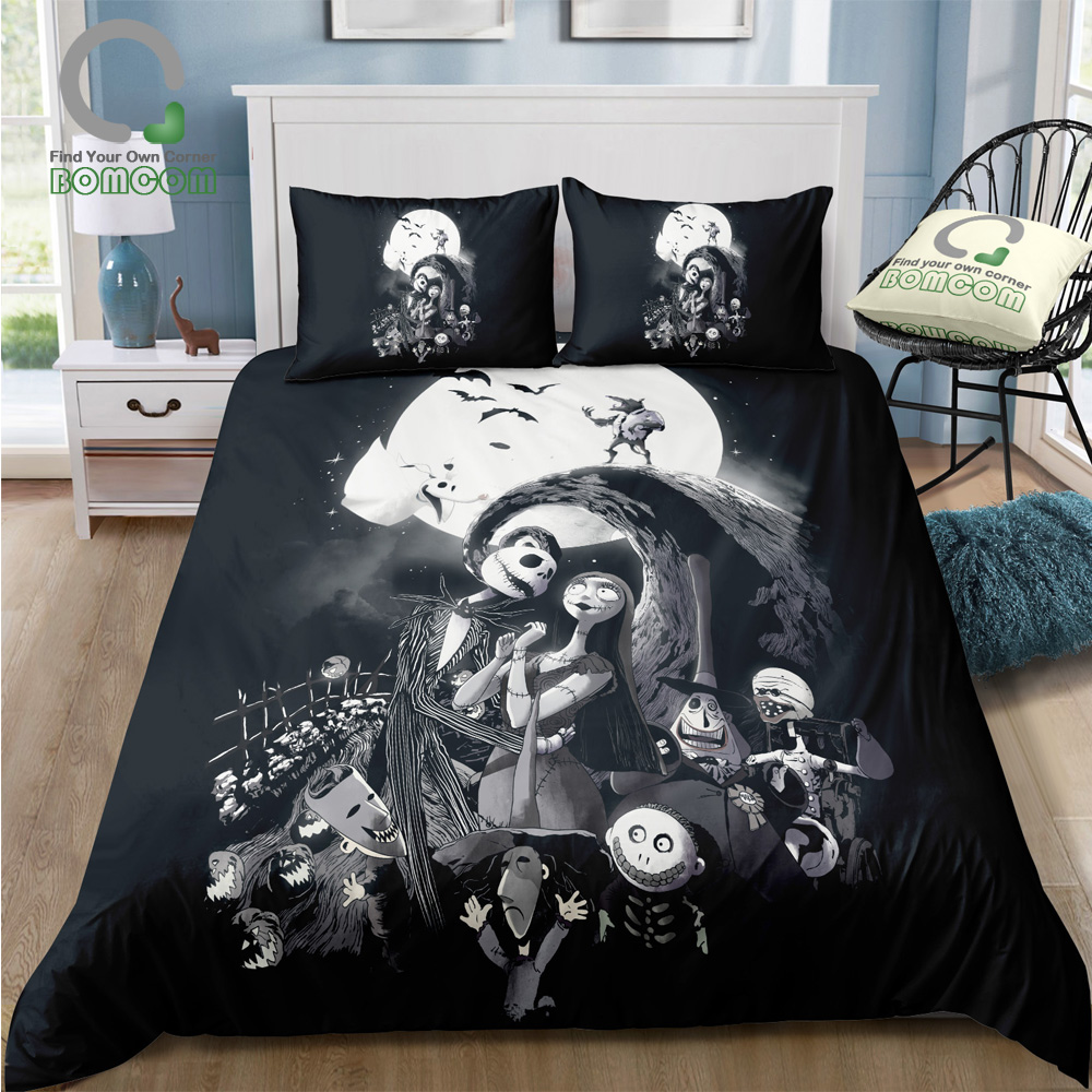 3D Nightmare Before Christmas Duvet Cover Sets,Jack and Sally ...