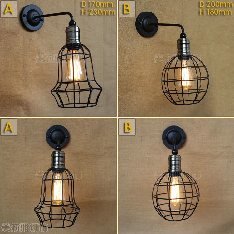 Vintage Pendant Lights Industrial Loft American Retro Lamps creative Restaurant Dining Room Lamp Bar Counter E27 Holder