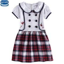 Enfants vêtements au détail nova enfants d'été à manches courtes causal style floral broderie fille robe nouveau 2016 bébé fille vêtements