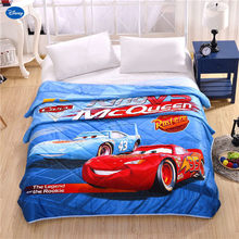 Disney Lightning McQueen Car Duvets Blanket Quilt Comforter Bedding Set Babies Boy's Bed Spreads Cartoon Cover Cotton Fabric(China)