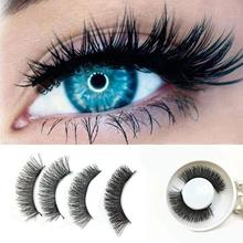 Women Eye Makeup 1 Pair 3D Double Magnetic False Eyelashes Lashes Reusable False Magnet Eyelashes 2U1111