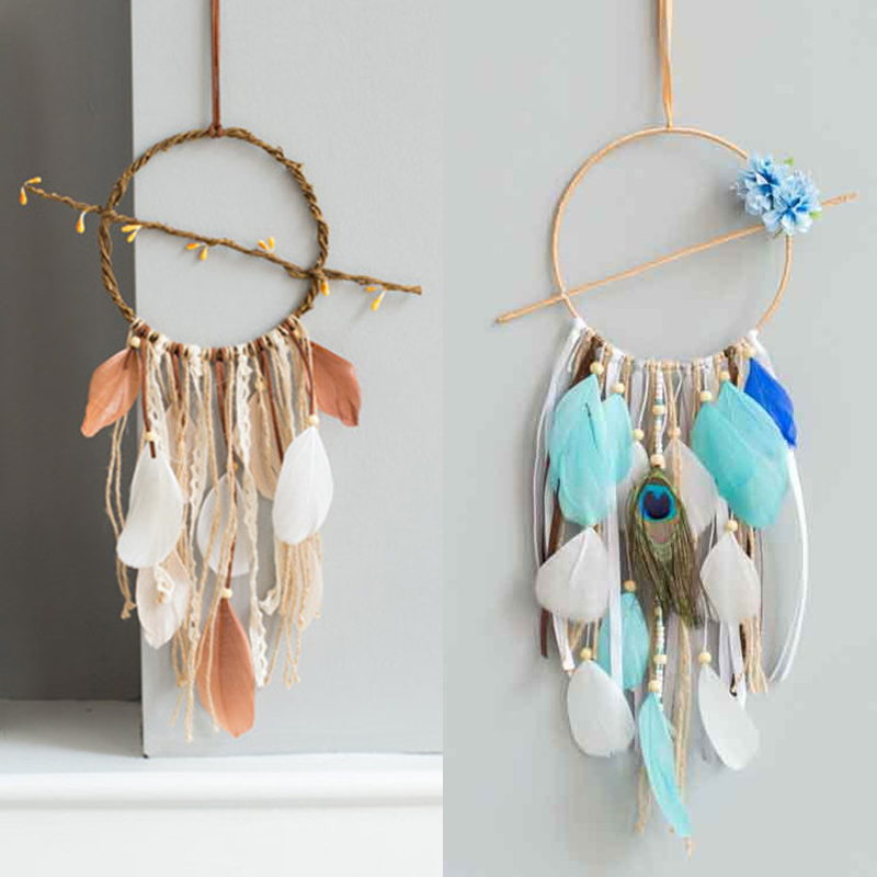 Nordic Browm Love Dream Catcher For Women Men Hanging Home Wall Dreamcatcher Decoration Gift For Men Boy Girl