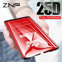 ZNP 25D Protective Glass For Xiaomi Redmi 7 6 Pro 6A 4X 5 Plus Tempered Screen Protector for Redmi Note 7 6 Pro note 5 Pro Glass