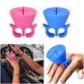 Creative Finger Wearable Nail Polish Holder Display Silicone Stand Useful Holder Nail Art Holder Art lalic
