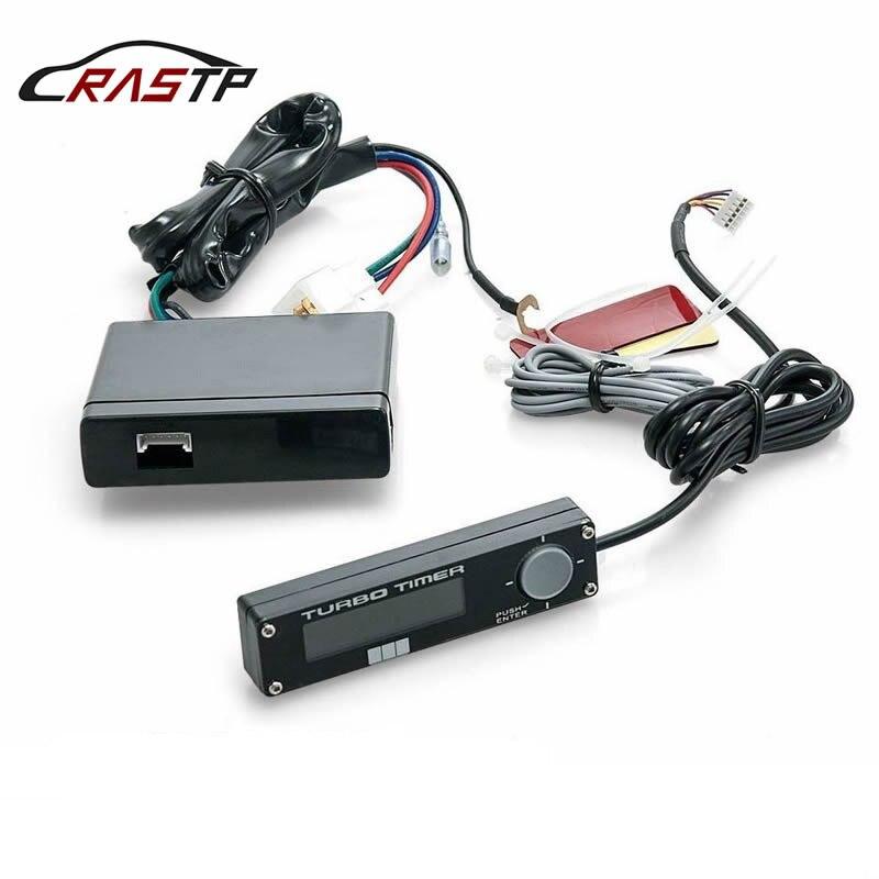 RASTP-Universal 12V Auto Turbo TIMER ควบคุมสีฟ้า/สีขาว/จอแสดงผล LED สีแดงสำหรับรถยนต์อุปกรณ์เสริมโลโก้ RS-BOV002