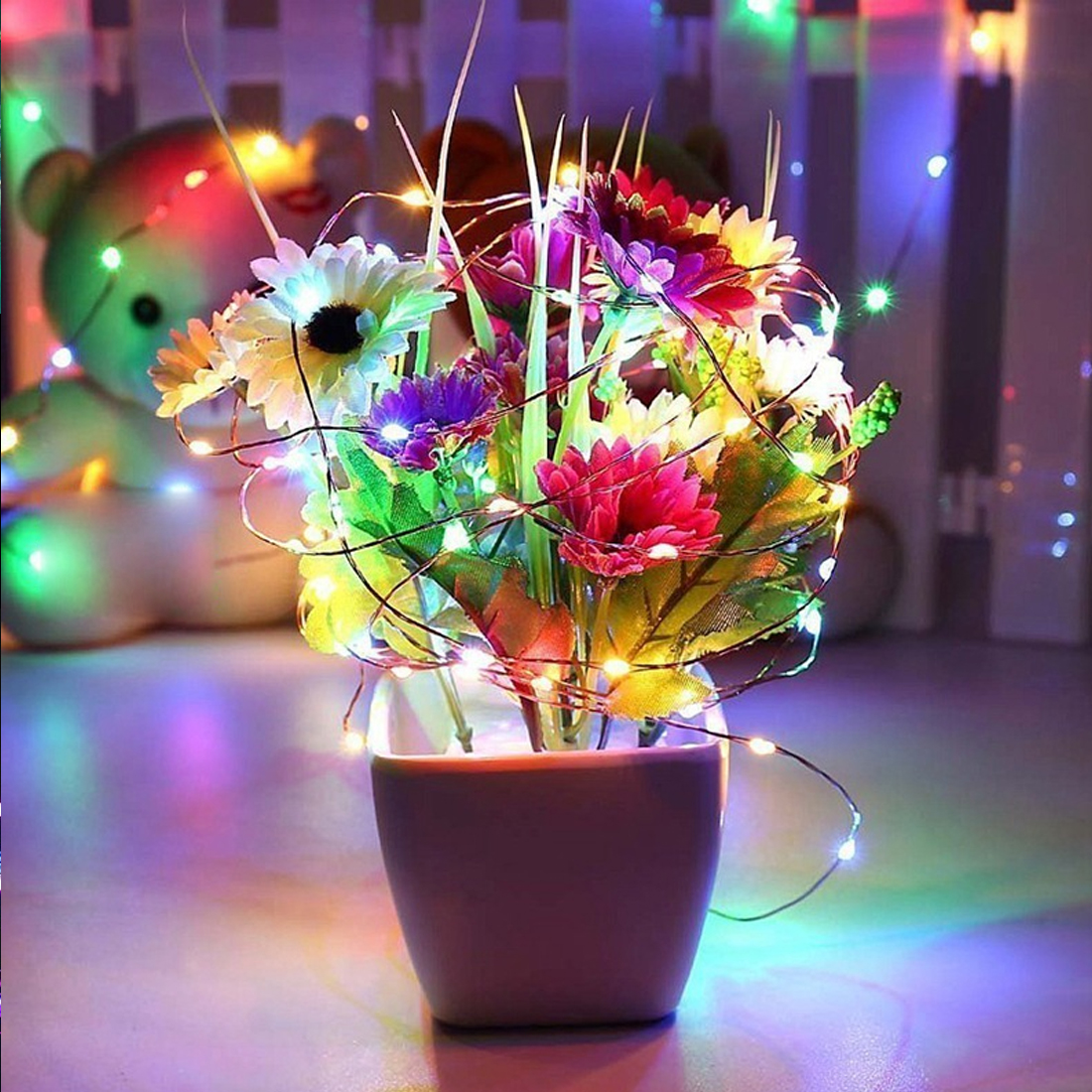 5m/10m USB LED String Light Waterproof LED Copper Wire ...