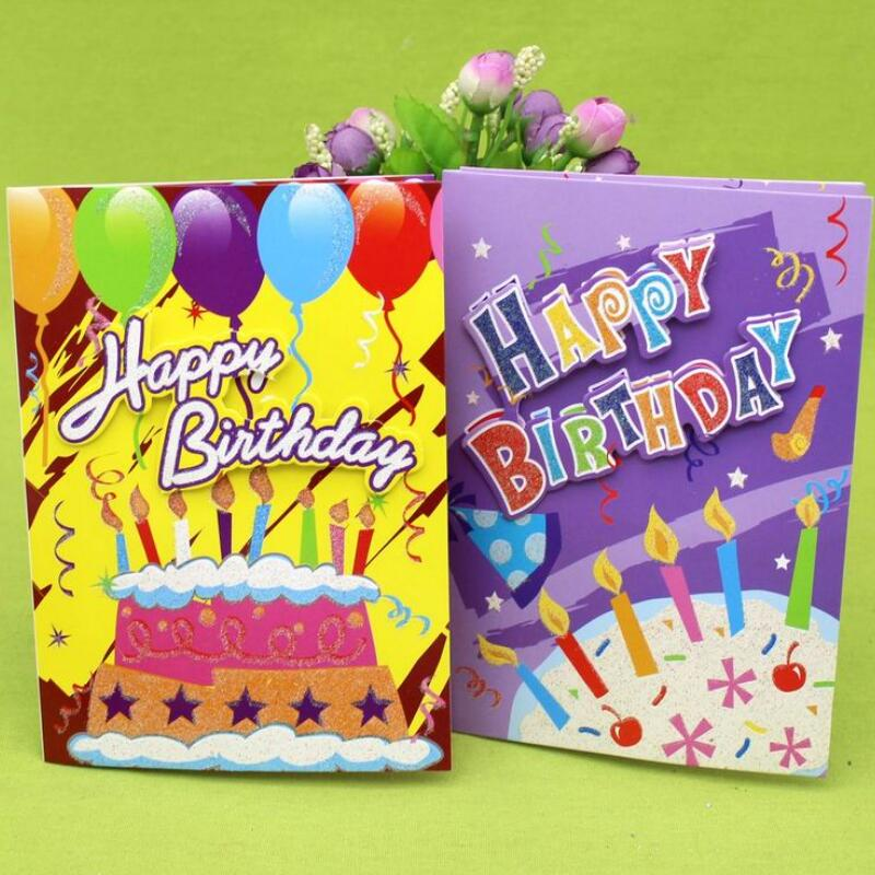 10 Pcs/lot Happy Birthday Music Greeting Card Handmade