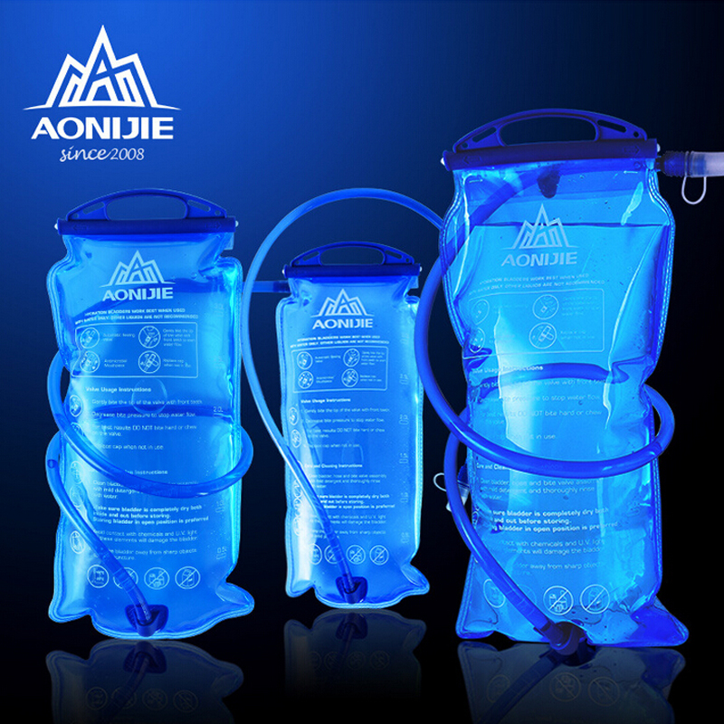 AONIJIE Men Women Water Bag Outdoor Sport Hydration Bladder Riding Running Camping Folding Water Holder 1.5L/2L/3L