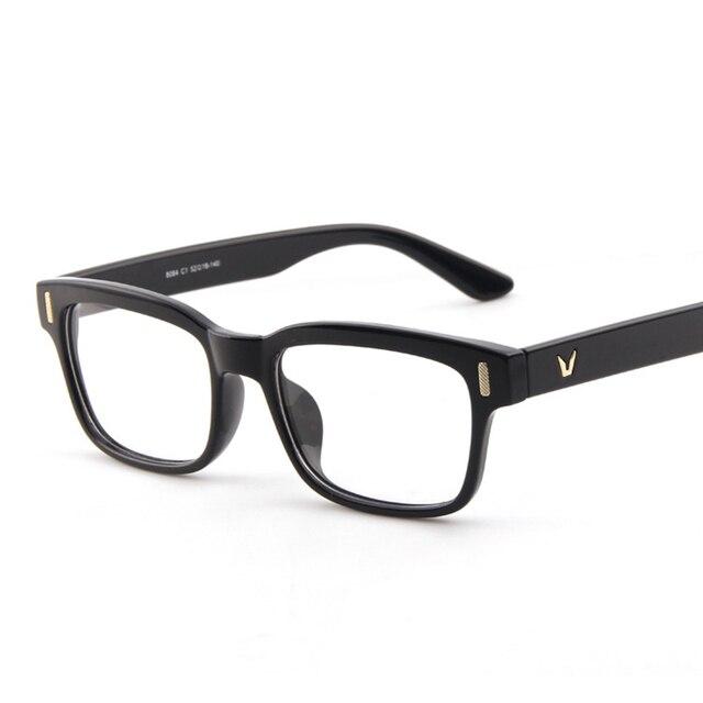 4ef221356 رخيصة أزياء نظارة بإطار النساء الرجال واضح شفافة نظارات الشباب كبيرة مربع  إطار النظارات الطبية