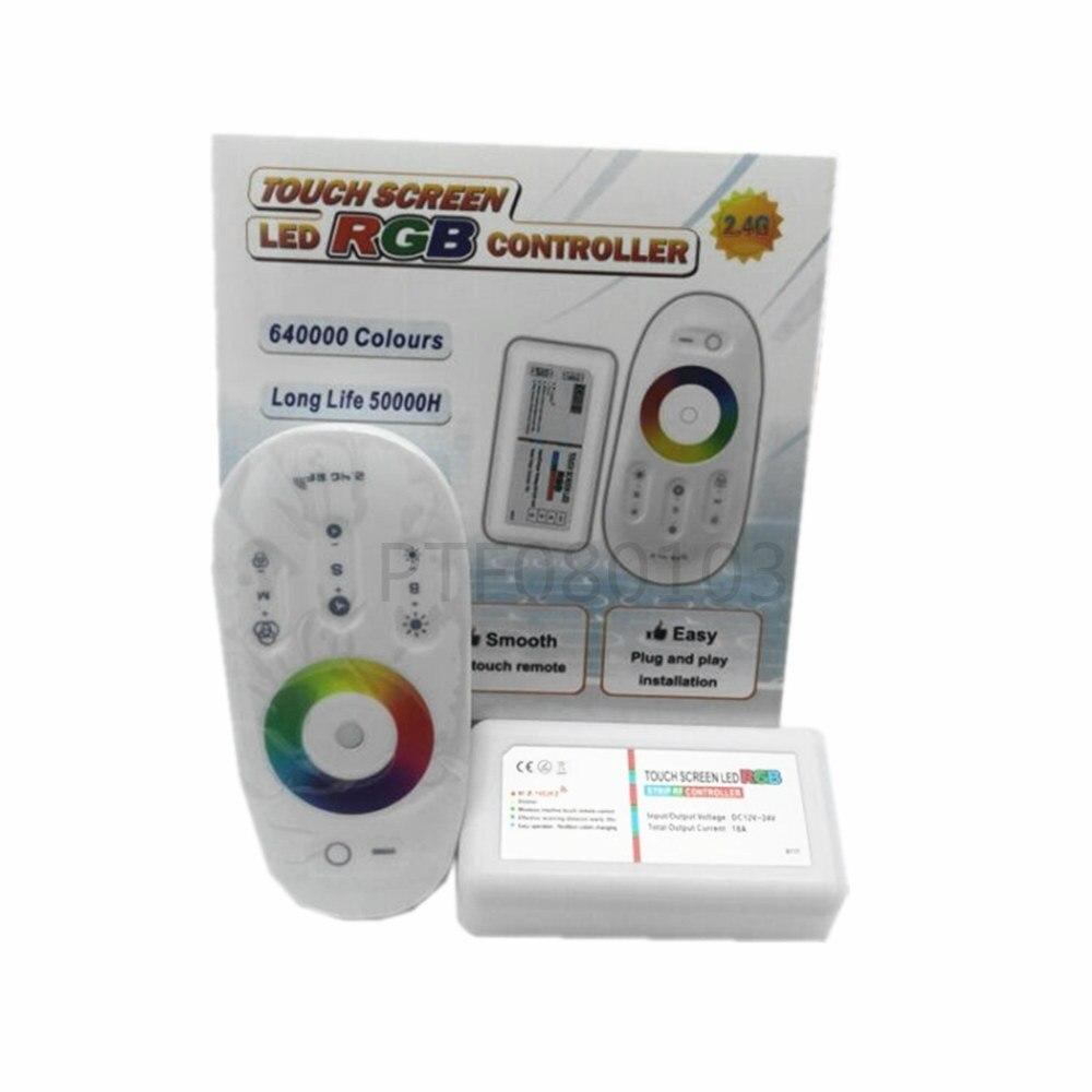 2,4G RGB LED Controller 3 Kanäle 18A DC12-24V Touch Screen Fernbedienung für 5050 3528 RGB LED Streifen licht