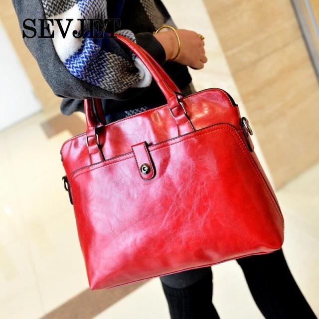 4 Color 2017 New Brand Casual Solid Women Leather Handbags Ladies Tote Casual Bolsa Feminina Vintage Women Messenger Bags A1250