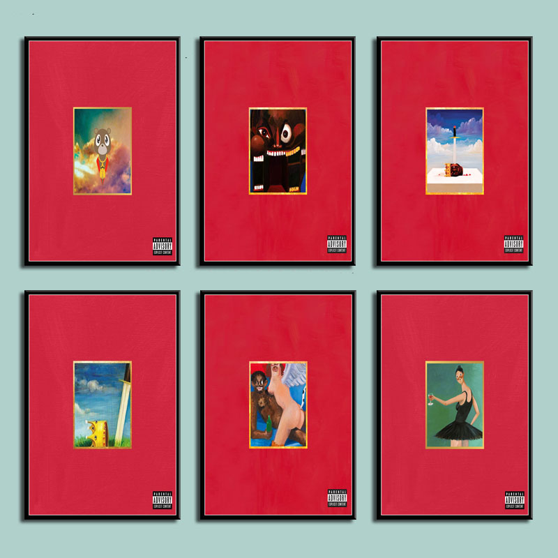 Kanye West /'My Beautiful Dark Twisted Fantasy/' Custom Poster or Art Print