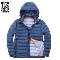 TIGER FORCE 2017 Men Winter Jacket Polyester Coat Bio Based Cotton Jacket Brand Fashion Jacket Autumn
