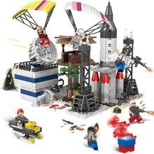 LegoINGly PUBG Blocks Player Unknown's Military Battlegrounds Soldiers Weapon Building Blocks Children Toys Army WW2 Bricks Set