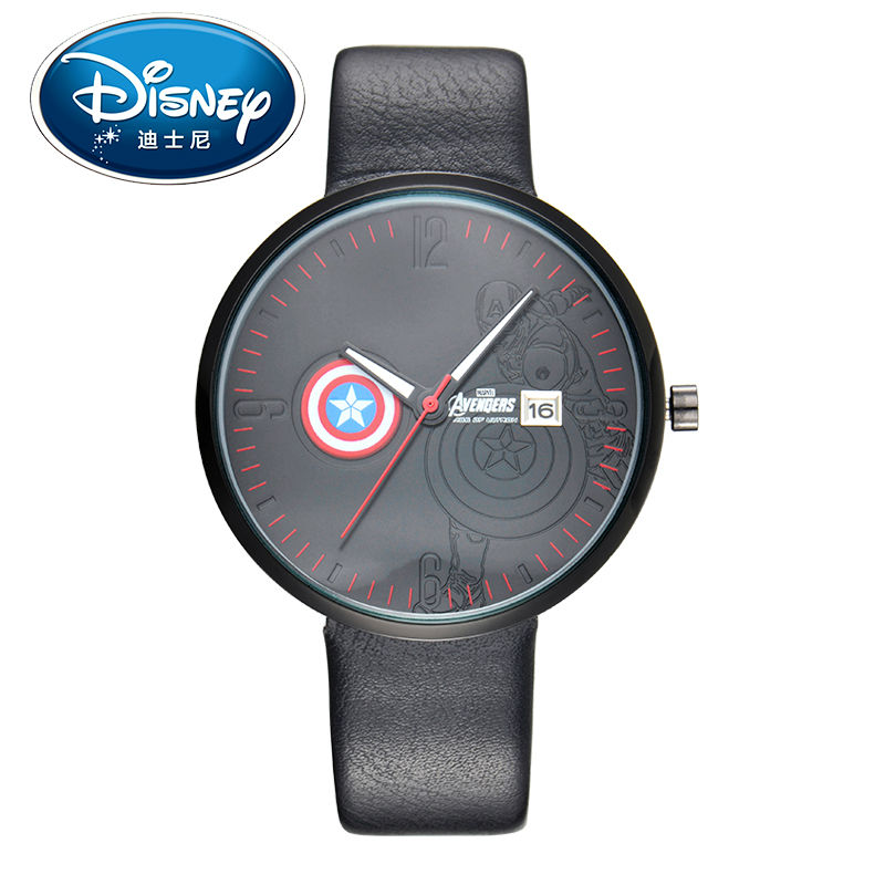 Disney Kids Watch Men Watch Super Hero Fashion Simple Cool Wristwatches Girls Mickey Mouse Gift Leather clock disney kids watch fashion cool cute quartz wristwatches girls waterproof mickey mouse for children clock