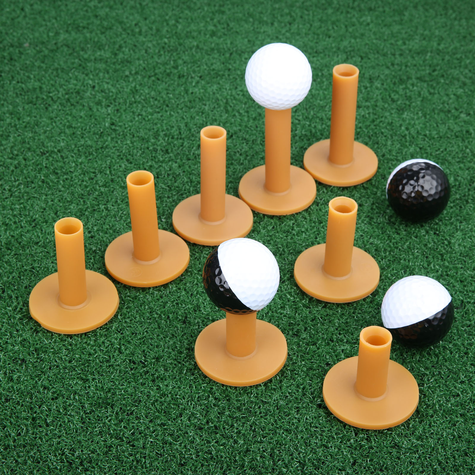 3 Pcs Golf Rubber Tees Golf Ball Holder Beginner Practice Tees Easy To Use On Hard Ground/ Winter Tees 35/45/55/60/65/70/75/80mm