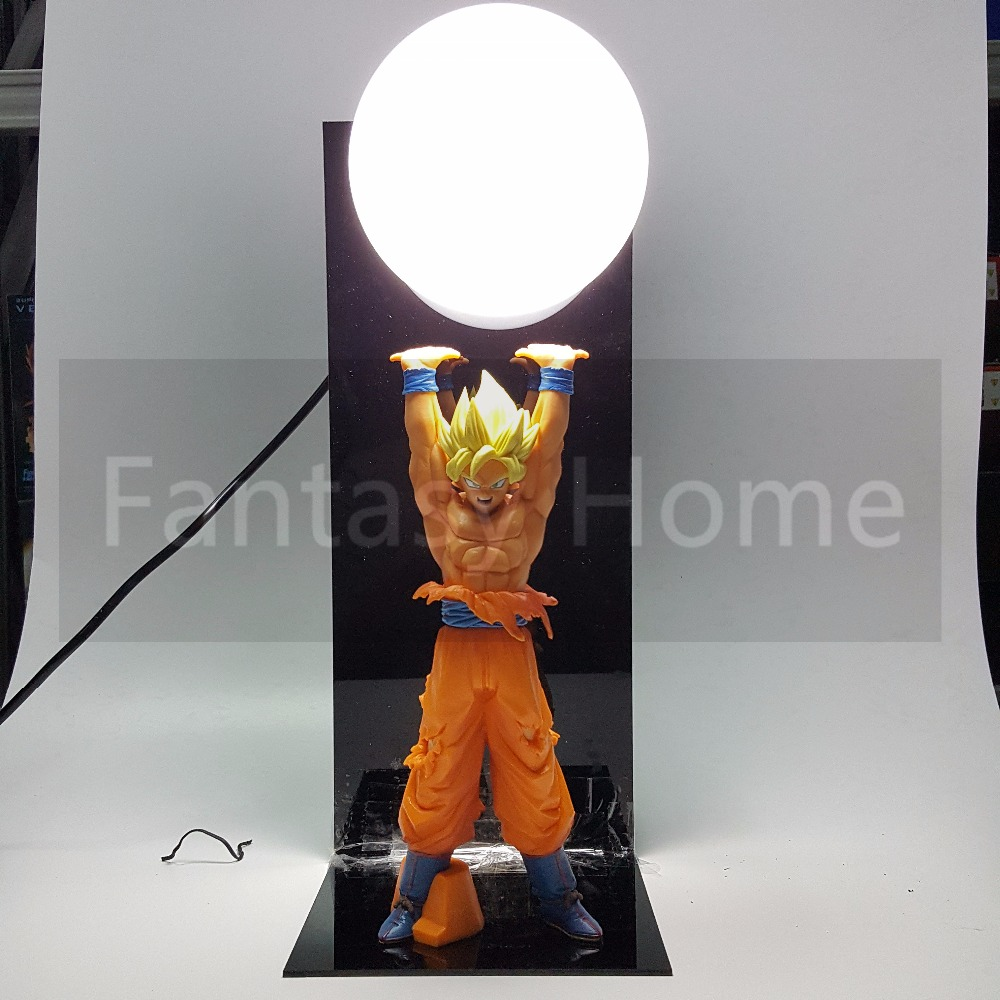 Dragon Ball Son Goku Genki damaSpirit Bomb PVC Figure Dragonball Z DIY Display Model Toy Esferas Del Dragon+Ball+Base DIY13