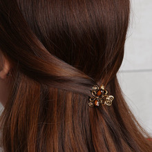 1 Pcs Retro Resin Mini Butterfly Crystal Hair Claw Clip Hair Clips Hairpin Girls Barrettes Hair Accessories