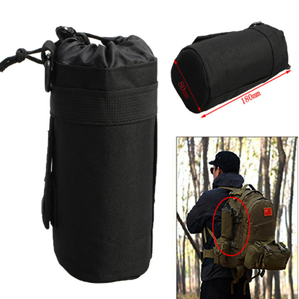 Water Bags Independent Tactical Water Bottle Pouch Military Molle System Kettle Bag Camping Hiking Travel Survival Kits Holder Careful Calculation And Strict Budgeting Campcookingsupplies
