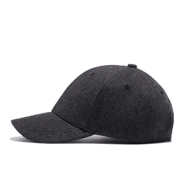 18ea502da068b FLB  Autumn And Winter Baseball Cap Cotton warm Sports Solid hats ...