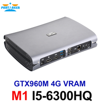 Partaker Top Gaming Computer Mini PC Intel Quad Core i5 6300HQ GTX 960M GDDR5 4GB Ram HDMI+DP+Type C S/PDIF 5G Wifi
