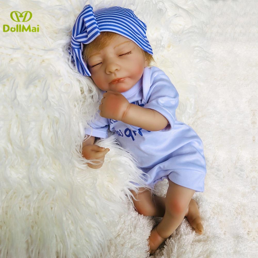 Poupées de bébé en silicone pour le corps en coton fait à la main 19