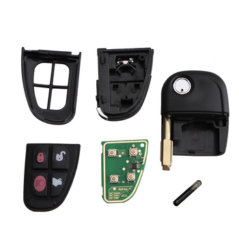 Chiave Telecomando per Jaguar X-Type CWTWB1U243 315/433MHz 4 tasti ID60 Chip NHVWB1U241  1