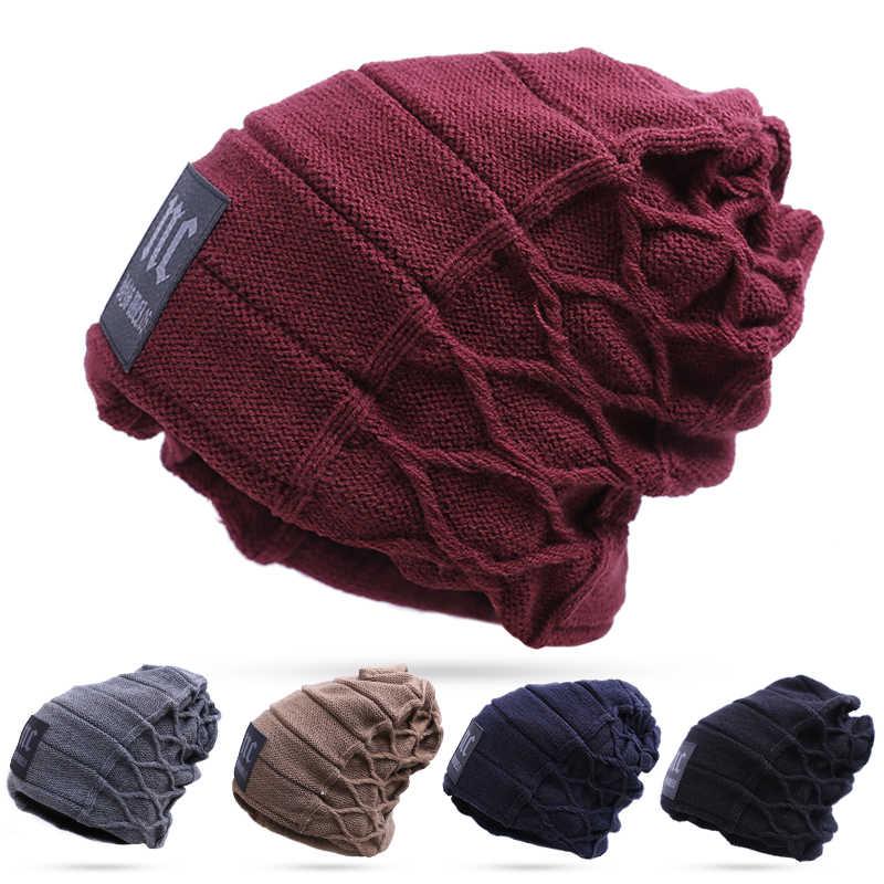 2020 şık Skullies Beanies kış erkek şapka kalın sıcak kış erkek şapka kalın kapaklar kasketleri kap kış erkek şapka toucas gorros