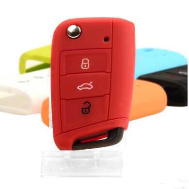 Silicon chìa khóa Xe bìa trường hợp đối với Volkswagen golf 7 MK 7 golf 7 R gtd cho skoda octavia RS A7 cho Seat tự động phụ kiện
