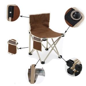 Image 3 - RU складное кресло, Высококачественная уличная мебель для кемпинга, барбекю, легкий складной стул, портативное металлическое кресло для рыбалки, пикника, пляжа