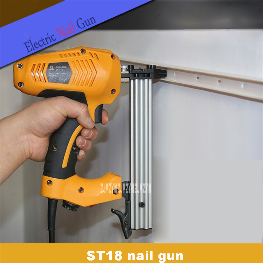 New Hot Electric Nail Gun High-quality ST18 Steel Nail Gun Woodworking Wire Slotting Device Decoration Tools 220-240v 50HZ 1800WNew Hot Electric Nail Gun High-quality ST18 Steel Nail Gun Woodworking Wire Slotting Device Decoration Tools 220-240v 50HZ 1800W
