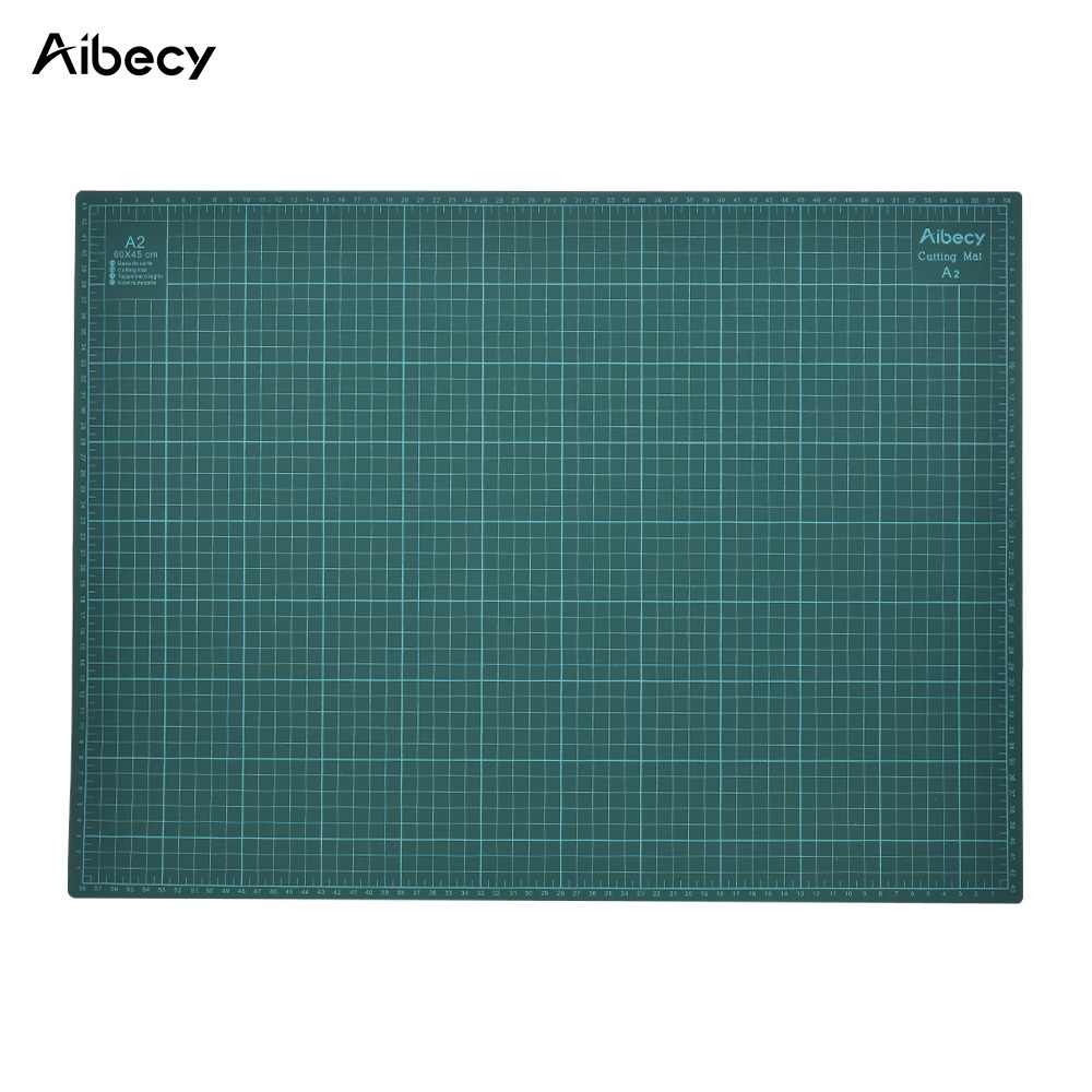 Aibecy A3 Cutting Mat PVC Patchwork Tools Manual DIY Tool Cutting Board Available Self-healing Cutting Pad 30cm* 45cm* 3mm Green