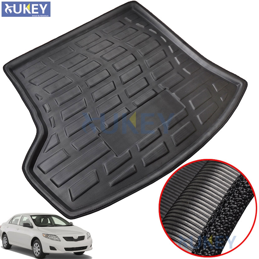Rear Trunk Cargo Boot Liner Mat Floor Tray Carpet For Toyota Corolla Altis 4