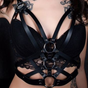 Ladies Punk Fashion Gothic Bra3